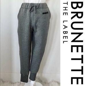 NWT Brunette The Label (Brunette) Gray Jogger pant